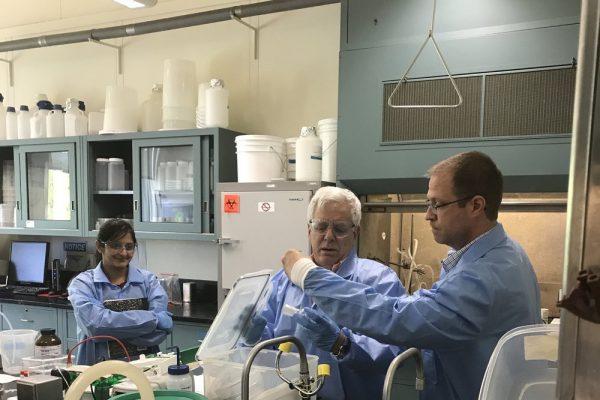 Saladax Lab - left to right -Ashwini Sumanth (Scientist), Dr. Salamone (CEO/President/Founder), Jeff Wisnoski (Scientist). Developing MyCare™ Psychiatry test